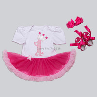 Eleven Story Baby Girls Summer Children Tutu Dress Princess Party Birthday Clothing Retail Kids Sleeved