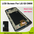 "Black 5.2"" For LG G3 D855 Cellphone LCD Display Touch Screen Digitizer lcd glass Assembly+Bezel Frame. Free shipping+track No."
