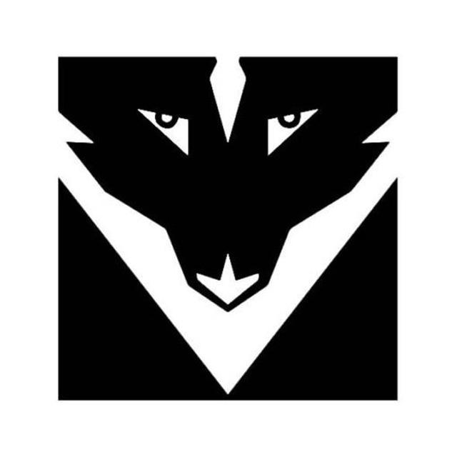 127128cm Destiny Symbol Of The Wolf Square Shape Creative Car
