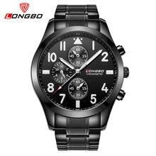 Nueva LONGBO Marca del Movimiento de Japón Del Relogio masculino de Acero de Tungsteno Reloj de Los Hombres de Negocios Vestido de pulsera de Cuarzo Ocasional relojes 80285