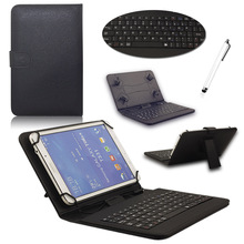 Universal Litchi Pattern PU Leather Case with micro USB Keyboard For 7 inch Andriod Tablet PC Protective Case With Keyboard