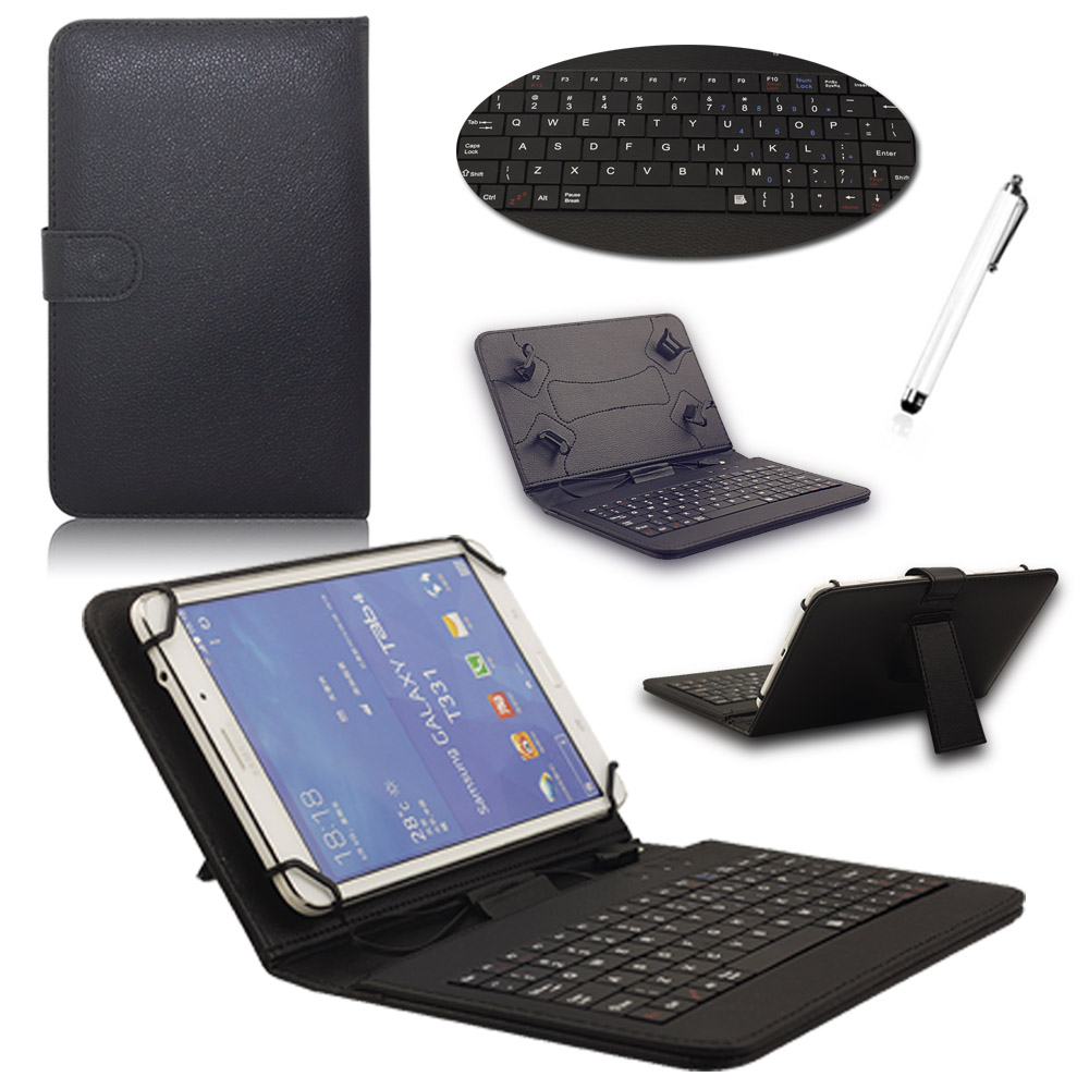 Universal PU Leather Case with Micro USB Keyboard For 7 inch Andriod Tablet PC Wired Micro Keyboard Protective Case Stand Cover