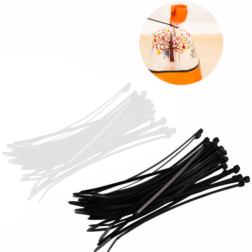 New Brand 100Pcs/set 3x150mm Self-Locking Nylon Wire Cable Zip Ties Cable Ties Strap Practical Accessories