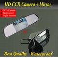 """Full HD 4.3 """" монитор зеркала автомобиля жк-tft + HD 4 из светодиодов CCD обратный заднего вида камеры заднего вида для HYUNDAI I30 / KIA SOUL"""
