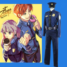 Cos ZOOTOPIA Nick Wilde Cosplay Costume Ceremony Suit Blue Male Movie 9731c86be4fa