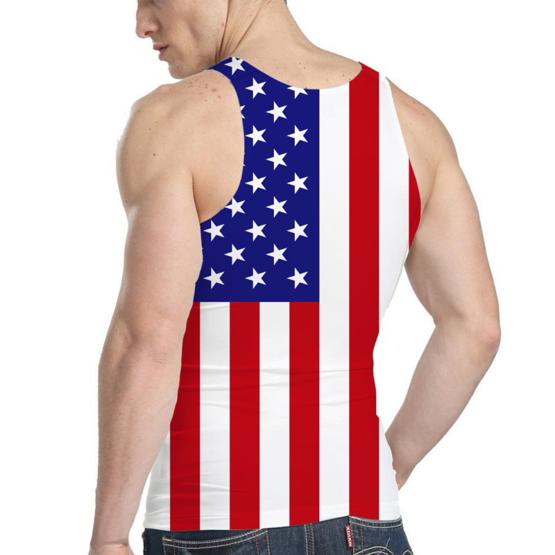 Men/'s Classic US Eagle Flag Black Workout Tank Top USA Beast Muscle Gym Tee