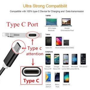 Image 2 - USB typu C Nylon szybka ładowarka przewód do huawei p9 p10 p20 mate 10 pro lite samsung Galaxy S10 S10e s8 S9 a3 a5 a7 2017