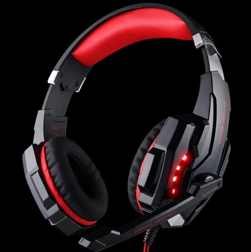 bilder für 2015 KOTION JEDER G9000 3,5mm Gaming Headset Stirnband Spiel Kopfhörer mit Mic LED-Licht für PC Laptop Handys PS4