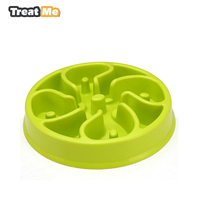 Anti Choke Pet Dog Bowl Slow Eating Pet Bowl Healthy Prevent Choking Gluttony Obesity Puzzle Feeder