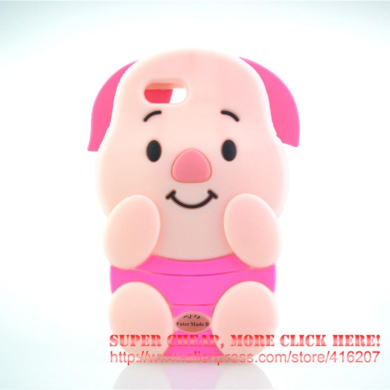 For <font><b>OPPO</b></font> A31T Case Pink Pig Piglet Silicone Rubber Cell <font><b>phone</b></font> Cases Covers <font><b>Phone</b></font> Case