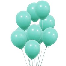 METABLE 100PC 12 in Aqua Blue Balloons Turquoise Thick Latex for Christmas Decoration Carnival Festival Birthday Party