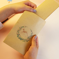 50 Kraft Envelopes Paper Card 12 7cm X 20 3cm 5 X8 Inch 110gsm Recycle Fiber