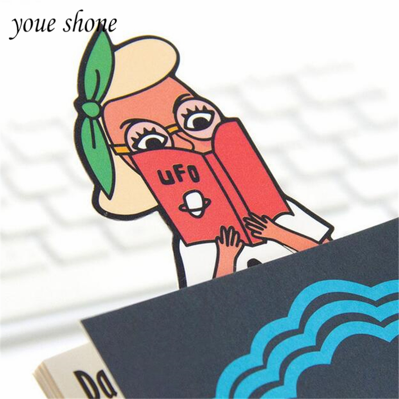 4pcs/Lots 2019 Bookmark Funny Pvc Unique Bookmark Cute Cartoon Shape Bookmark Character 4 Styles Gifts For Children Youe Shone