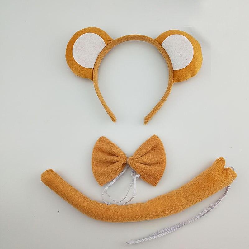 Kids Adult Monkey Headband Tail Animal Cosplay Performance Props Birthday Party Halloween Costume For KidsChristmas Navidad