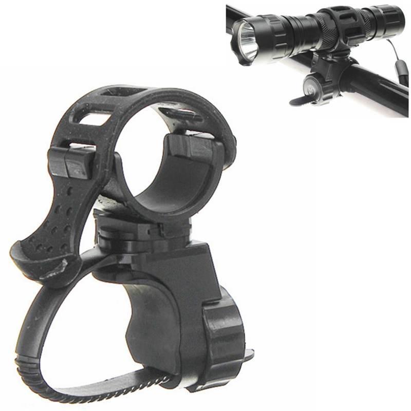 Black 360 Degree Bike Bicycle Flashlight Torch Mount Holder Clamp Clip Adjustable Light Lamp Holder Clip