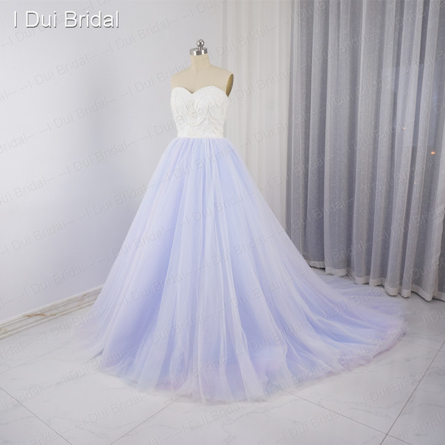 Online Shop Colorful Wedding Dresses Purple pink blue Tulle Layers ...