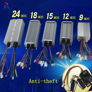 Controlador de Motor de buje sin escobillas para Bicicleta eléctrica, 48V, 60V,...