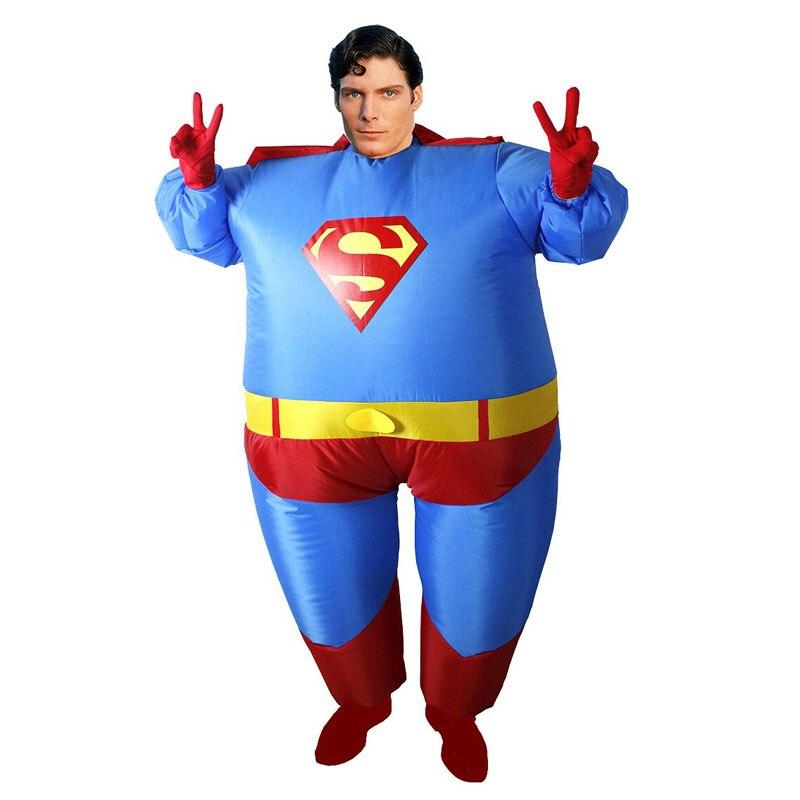 Inflatable superman costume carnival cosplay superhero costume ...