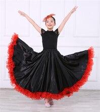 Childrens Spanish Dance Skirt  Flamenco Skirts Muñecad De Españolas Gypsy Woman-540 degree