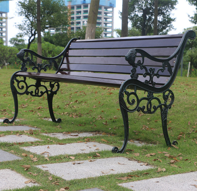 Outdoor Wood Preservative Chairs Outdoor Bench Benches Wrought Iron