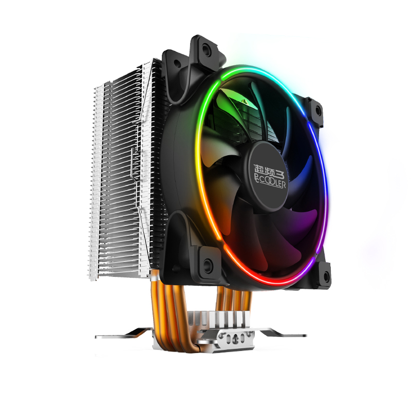 Pccooler X5-I 4 Copper Heatpipes CPU cooler for Intel 775 115X 2011 2066 CPU radiator 120mm 4pin PWM cooling CPU fan PC quiet pccooler s126 4pin pwm 12cm 10pcs led fan 5 8mm heatpipes all black cpu cooler amd intel cpu cooling ratidor fan quiet silent