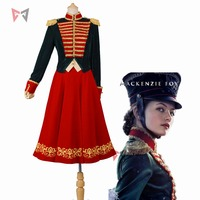 New movie The Nutcracker And The Four Realms cosplay Princess Clara cosplay dress fancy uniform costume for girl women red skirt
