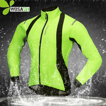 WOSAWE Waterproof Reflective Thermal Fleece Cycling Jackets Men Bike Bicycle MTB Coat Winter Clothes Cycle Windbreaker Clothing недорого