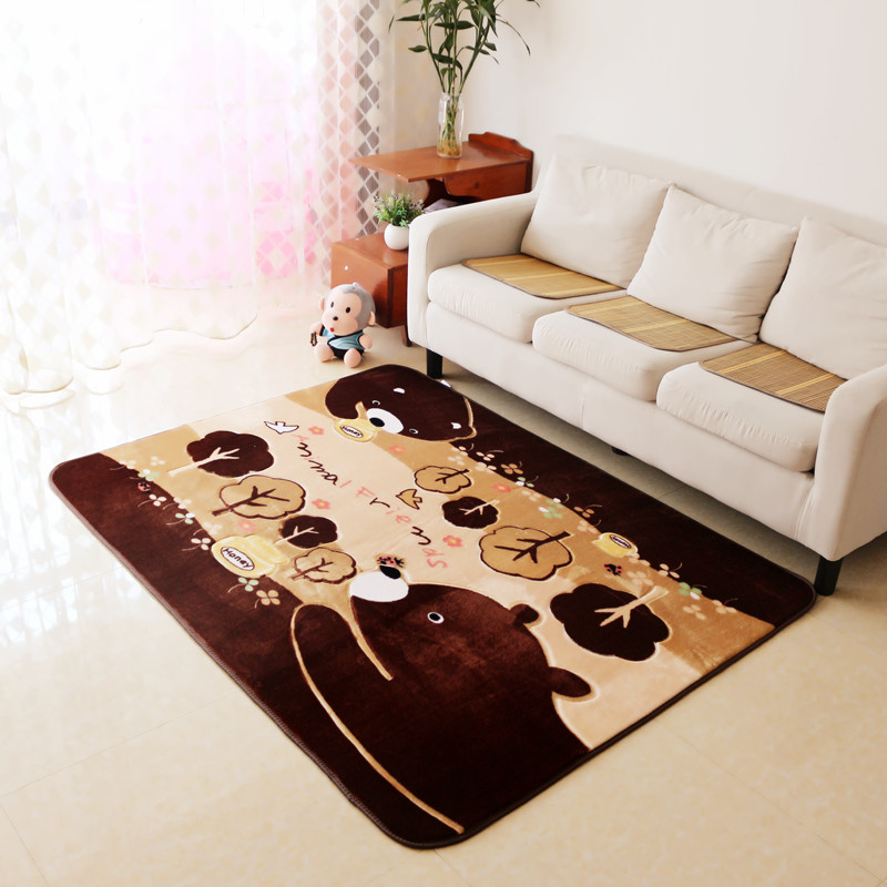 Thicken Bear Children Bedroom Rugs And Carpets Hand Carved Kids Play Game  Mat Study Room Area Rug Living Room Carpet In Carpet From Home U0026 Garden On  ...