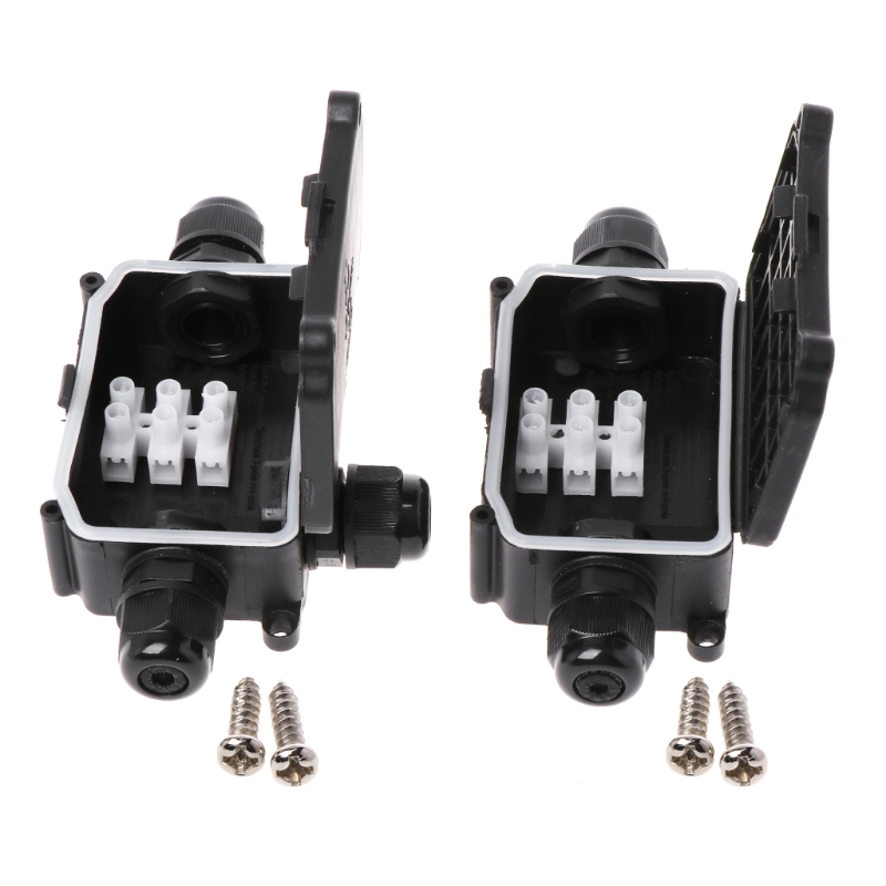 1PC 2 Way/3 Way IP66 Outdoor Waterproof Cable Connector Junction Box With Terminal 450V