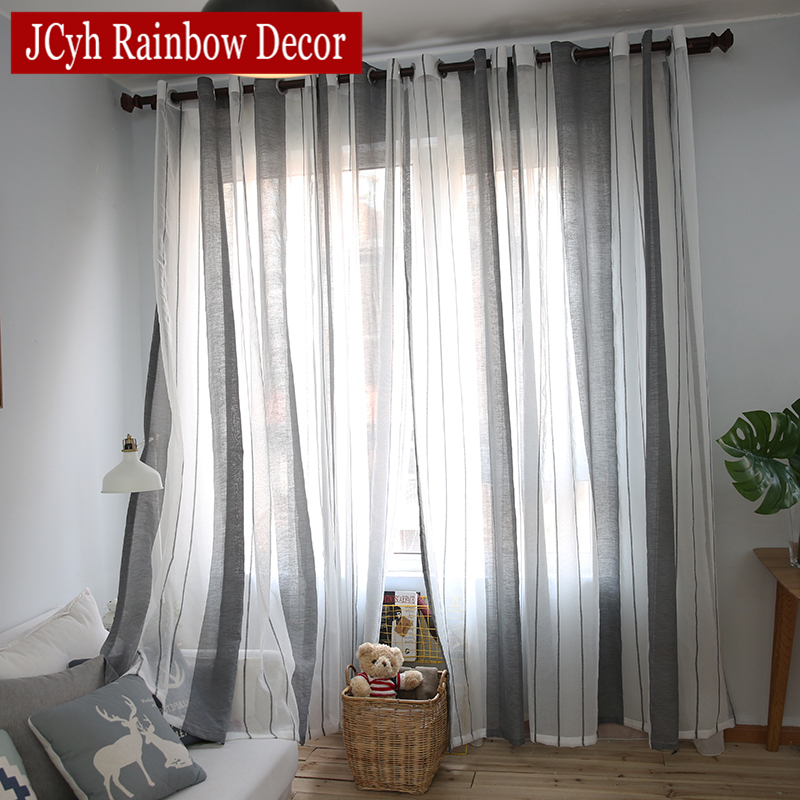 Grijs Linnen Sheer Tule Gordijnen Voor Woonkamer Streep Moderne Gordijnen Voor Slaapkamer Venster Voile Gordijnen Stoffen Jaloezieën Gordijnen|sheer tulle curtains|curtains fortulle curtains - AliExpress
