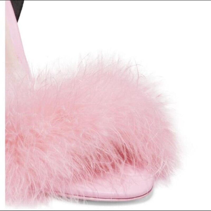 Pista Partito Sandali Decor Piuma Cinturino Show Da Rosa Pelle Scarpe Pompe Stampato Farfalla Moda Multicolor Caviglia Alla As In Donne Sposa wqaTn4F