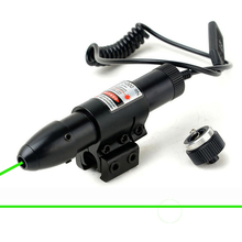 Free Shipping Tactical Adjustable 5mW Green Laser Sight Scope Green Laser Designator For Hunting Riflescope, Dual Mount.(China)