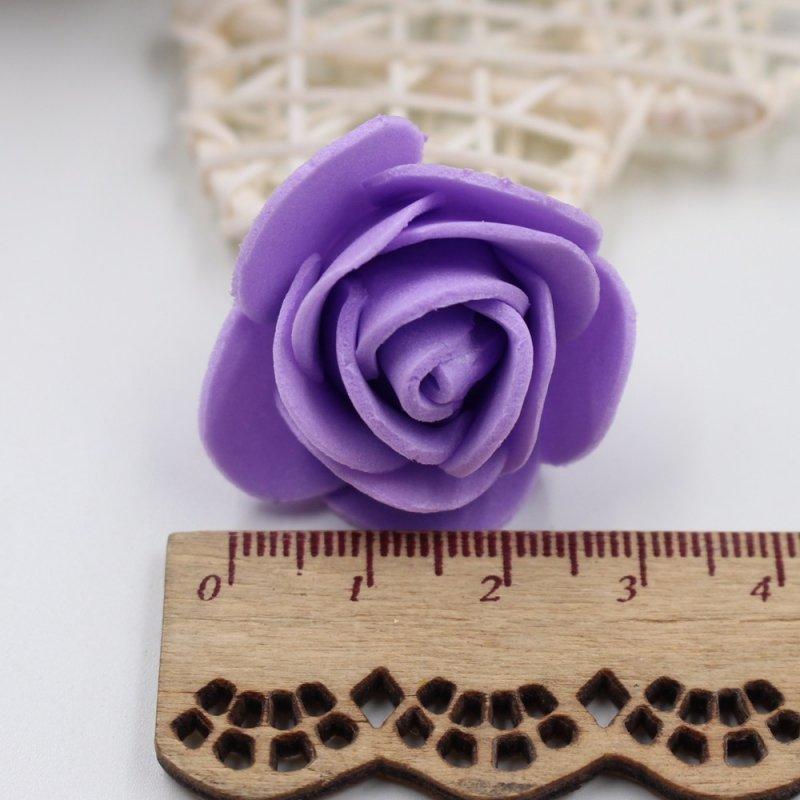50 шт./пакет Красивая ПЭ пена Роза ручной работы DIY Свадебный дом украшение для вечерние многоцелевой искусственный цветок голова