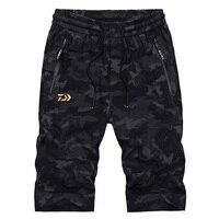Camouflage Shorts 2019 New Brand Daiwa Fishing Pants Summer Breathable Mens Fishing Clothes Outdoor Sport Pants Hiking Camping