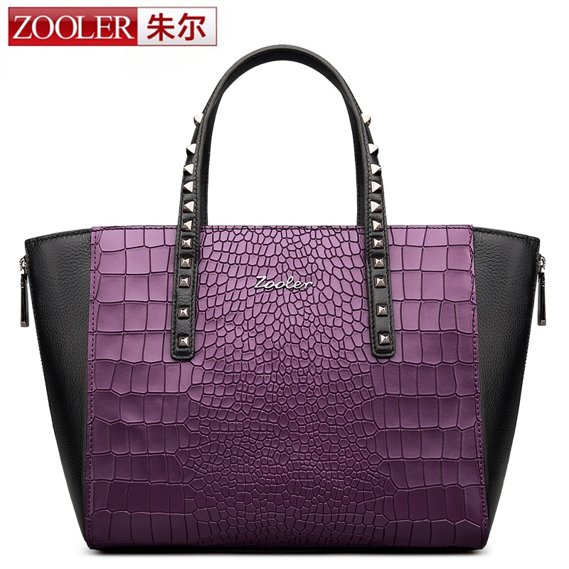 ZOOLER genuine leather Bag Ladies Luxury woman bags bag handbag top handle handbags  Patchwork capacity bolsa feminina #1305 вытяжка встраиваемая midea e60meb0v02 серебристый