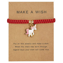 Сделать пожелание животных регулируемые браслеты с изображением лошади серебряный браслет талисманы для женщин девочек ручной работы цепи сообщения карты ювелирных изделий