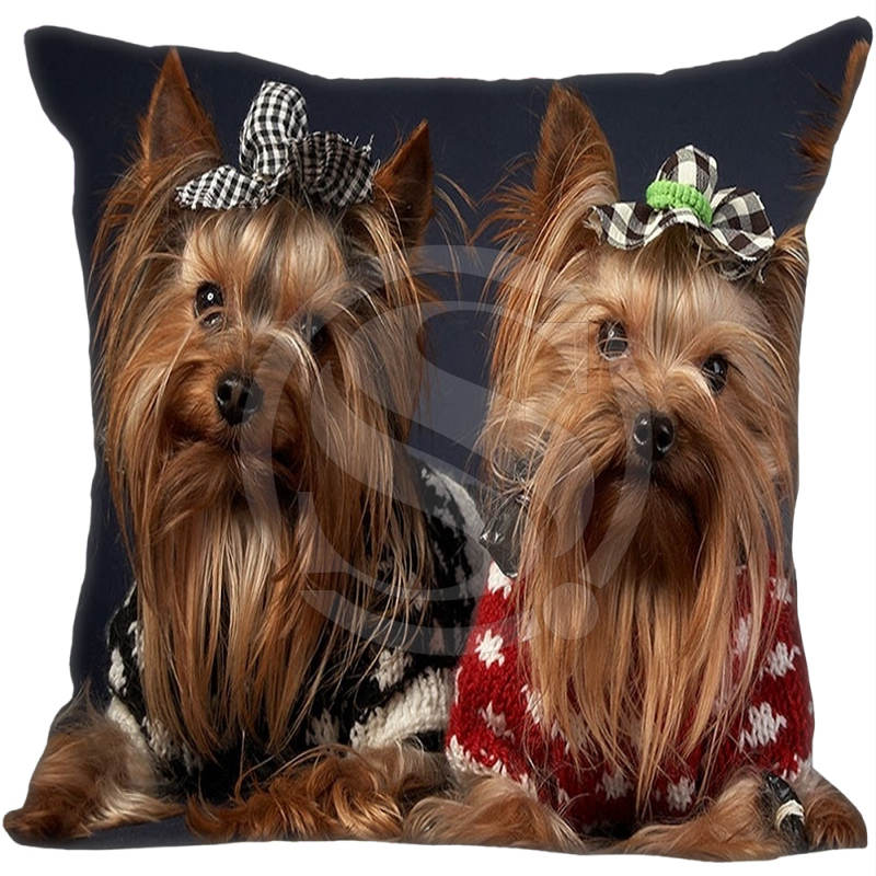Hot Sale Custom Yorkshire Terrier Puppy Dog #2 Pillowcase 35X35cm (One Side)Home Pillow Cover Pillow Cases 9-22T
