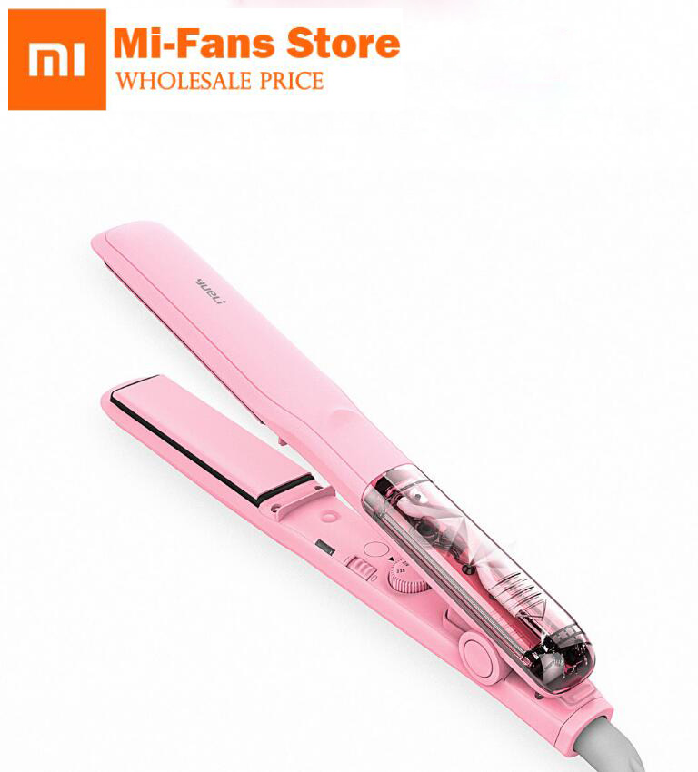 Original Xiaomi Yueli Professional Vapor Steam Hair Straightener Curler Salon Personal Use Hair Styling 5 Levels