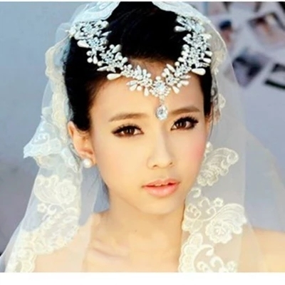 New Heapieces and Earrings Set luxury Pearl Bridal Jewelry Sets Women Jewellery Vintage Wedding Hair Accessories