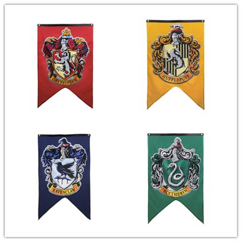 Harri Potte Party Supplies College Flag Banners Boys Girls Kids Halloween Decoration Christmas Gift