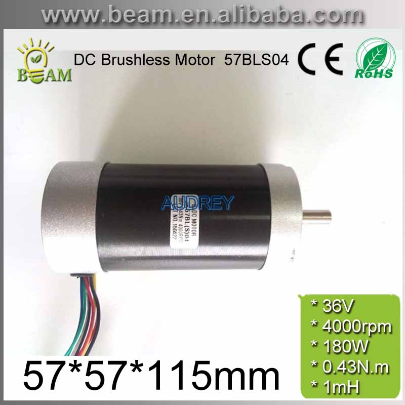 Circle Fuselage 36V 180W 0.43 N.m 4000rpm 57mm 3 phase DC Brushless Motor 57BLS04 36V bldc Motor with 1.27n. M Holding Torque free shipping 1000w 36v dc brushless
