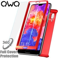 360 full cover protective phone casee for huawei p20 lite case p20 pro with tempered glass for huawei p10 lite plus shell case