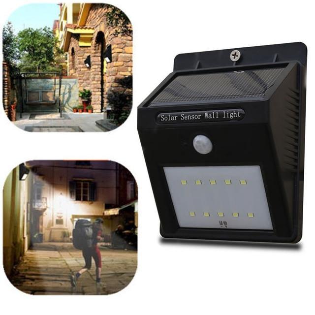 Outdoor Solar Panel 10 LED Solar Power Garden Yard Wall Light Super Bright  Garage Security Door