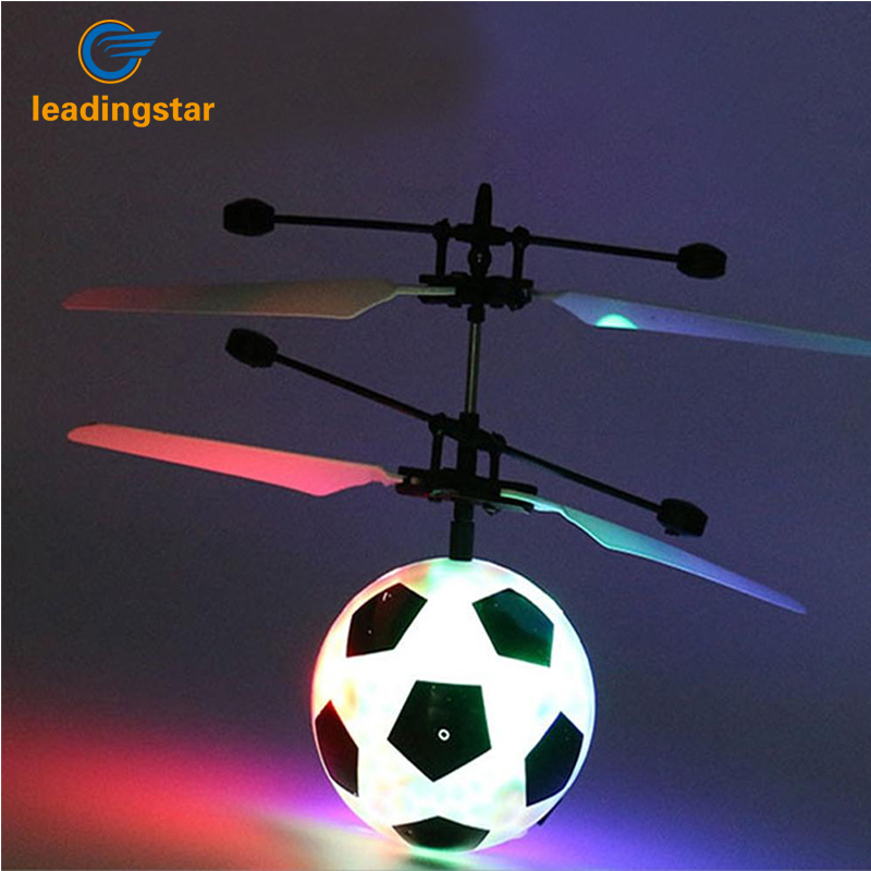 LeadingStar LED Remote Flying Globe/Soccer Flying RC Drone Helicopter Induction Mini Aircraft for Kids/Teenager Toys zk30