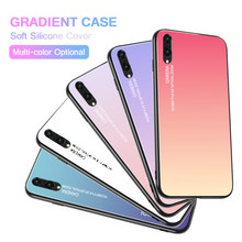 Soft Case For huawei p20 lite cases luxury Aurora Gradient Color P20LITE Cover For huawei p20 LITpro light PC Soft Silicone Case(China)
