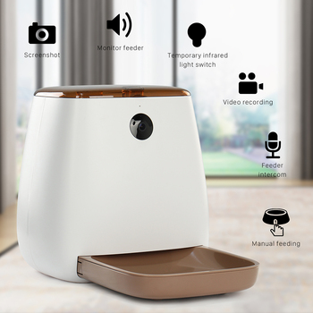 3.3L Automatic Pet Food Feeder Video Monitor Voice Recording Pets Food Bowl Medium Small Dog Cat Dispensers Rechargable