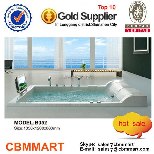 vasca idromassaggio con tv, vasca da bagno per due persone in, Disegni interni