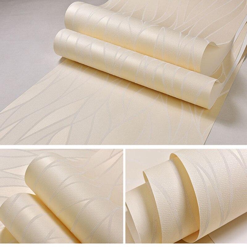 Vague courbe rayure 3D non-tissé papier peint pour salon chambre fond papier peint décor à la maison - 4