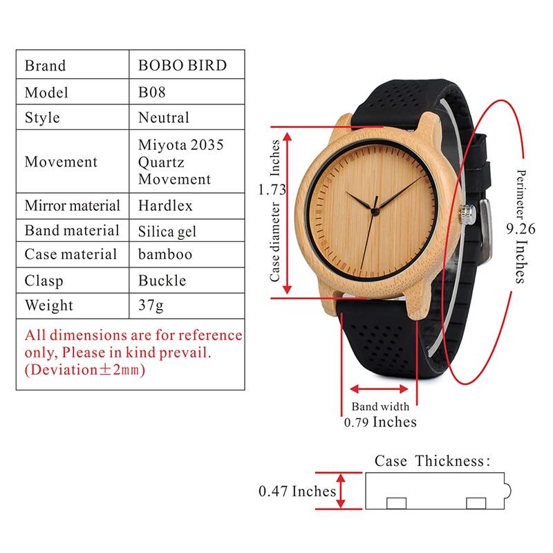 BOBO BIRD Women Luxury Bamboo Wood Watches 19
