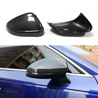 Mirror Cover For Audi RS5 A4 B9 S4 A5 S5 RS4 dry Carbon Fiber Rear Side View Mirror Cover Replacement&add on 2016 2017 2018 2019